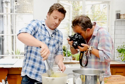 Food Photography With Television Chef Jamie Oliver