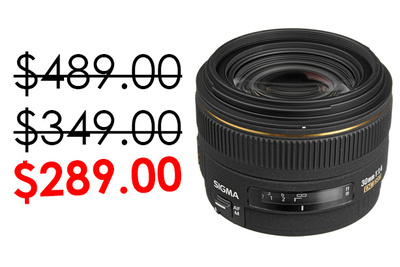 February Only Sigma 30mm f1.4 Lens Only $289 at BH Photo