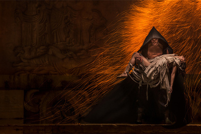 Behind the Scenes: Blazing Fire and Fierce Fashion Photoshoot Combined