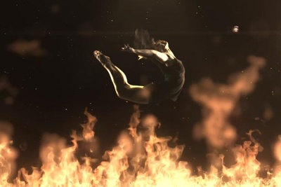 """Fire Flight"" Slow Motion Dancers At 1000fps"