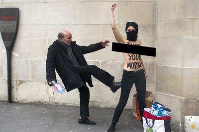 Femen Activists Declare 'Topless Jihad' (NSFW)