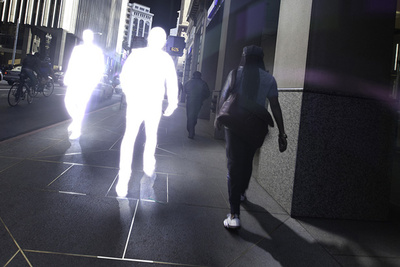 """Shining"" A Series Of Glowing Street Silhouettes"