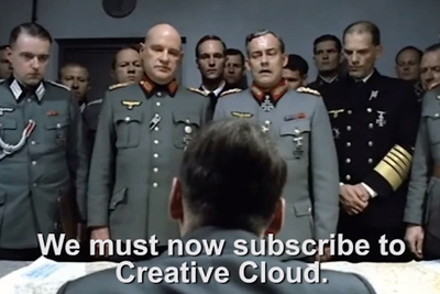 Hitler Finds Out About The New Creative Cloud Model And Shares His Thoughts