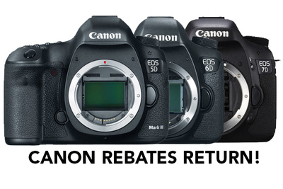 Canon Rebates Return: Deals on 5D, 6D and 7D