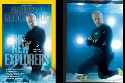 BTS - National Geographic's June Cover Shoot With James Cameron