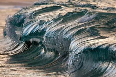 Beautifully Frozen Ocean Waves