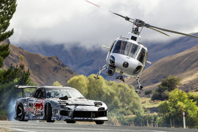 BTS Video of Mad Mike Drifting The Highest Roadway in New Zealand
