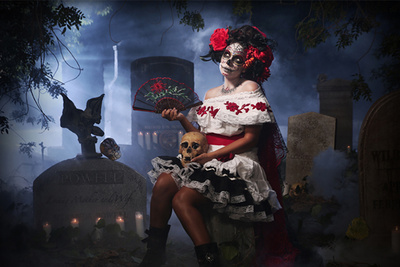 Behind the Scenes of a Day of the Dead Photoshoot