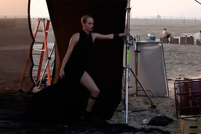 A Peek Behind the Scenes with Peter Lindbergh and Amber Valletta