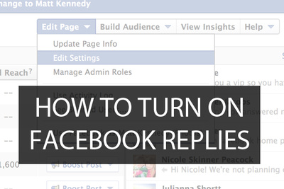Enhance Interaction On Your Facebook Pages With Replies