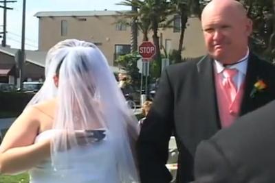 Bride Texts During Wedding Ceremony