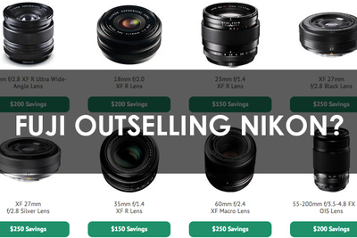 Fuji Lenses Outselling Nikon Glass in Rebate Battle