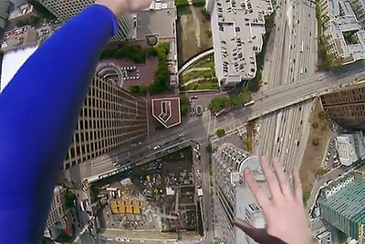 Superman Flies Through Los Angeles With A Gopro