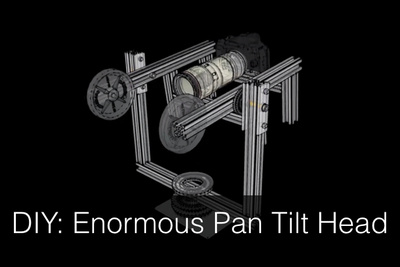 Stefan Kohler's DIY Pan / Tilt Panorama Head Supports 13.2 Pounds