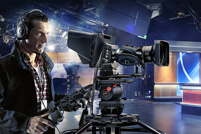 Blackmagic Announces a Broadcast Camera with a Massive Viewfinder: Studio Camera