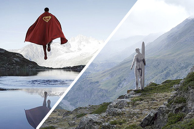 Superheroes Beautifully Photographed Far Away From Any Action