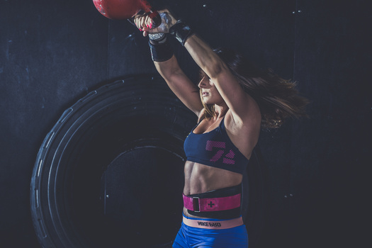 A photograph of a CrossFit athlete