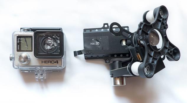Phantom 3 Review - go pro and Phantom 2 H4-3D mishap