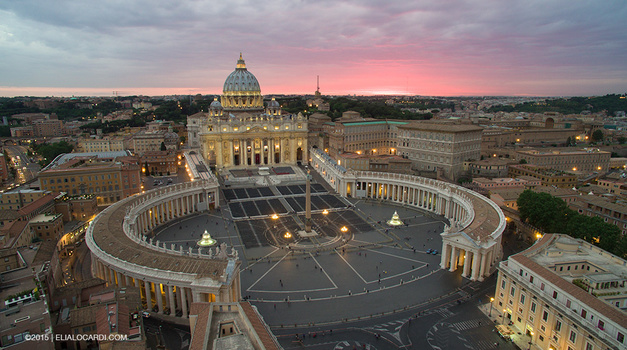 Phantom 3 Review - Vatican before photo example