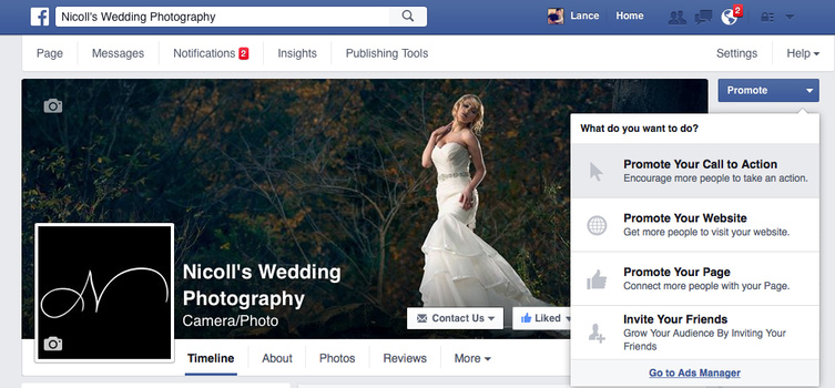 Nicoll's Wedding Photography Instagram Ads Through Facebook