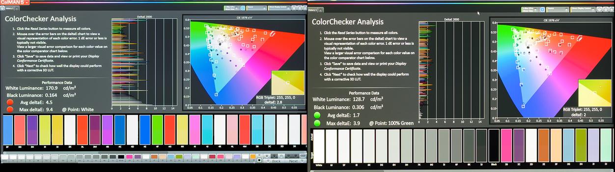 Dell eIPS Monitor Calibration Results ColorChecker CalMAN