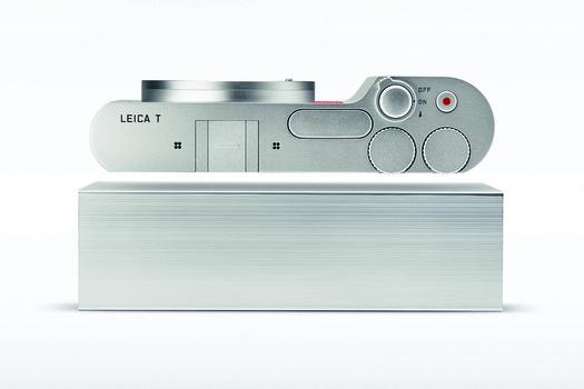 Photo of Leica T and aluminum block