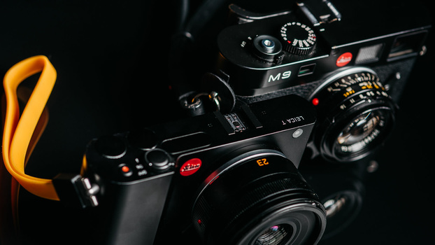Photo of Leica T and Leica M9 from the top
