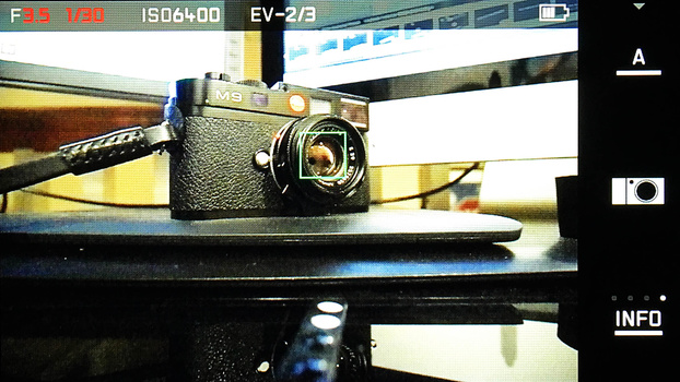 Photo of LeicaT shooting screen