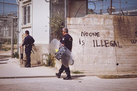 police greece graffiti
