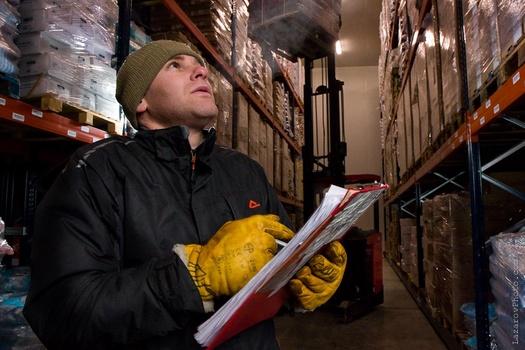 Fridge warehouse photoshoot