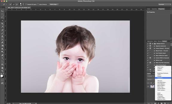 post-processing a three-light portrait