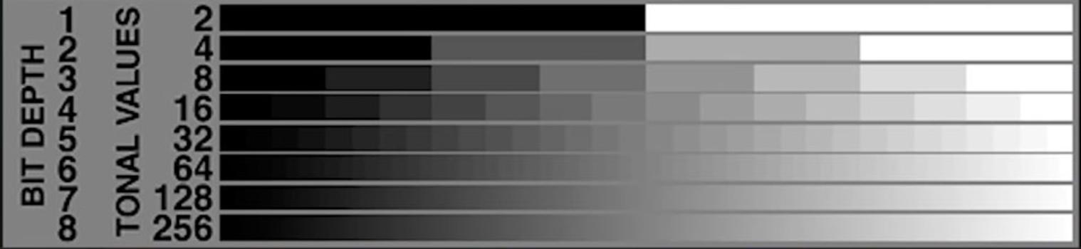 Bit depth gradients