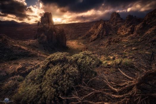 Sunset in El Teide National Park