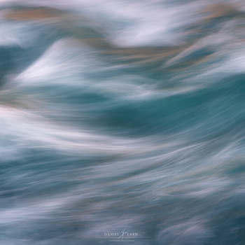 Abstract image of the raging river following Goðafoss in Iceland.