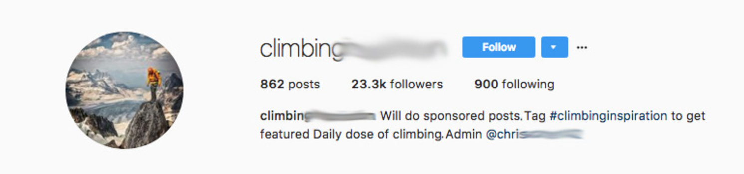 Instagram account that will do sponsoered posts