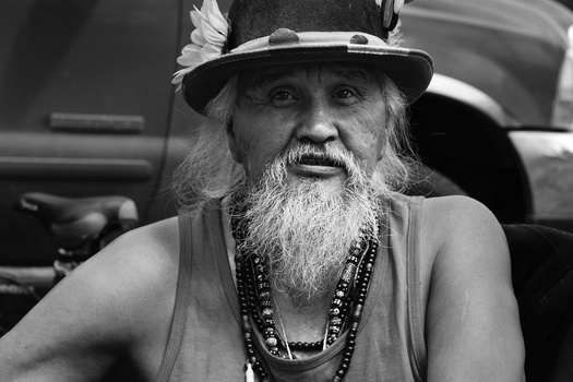 Tribal Elder, Maq featured in interview speaks about the indian beliefs about suicide. Photo by Gabrielle Colton
