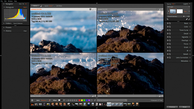 grid view. photo editing software. ailen skin
