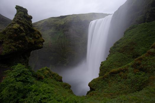 raw image of skogafoss from camera