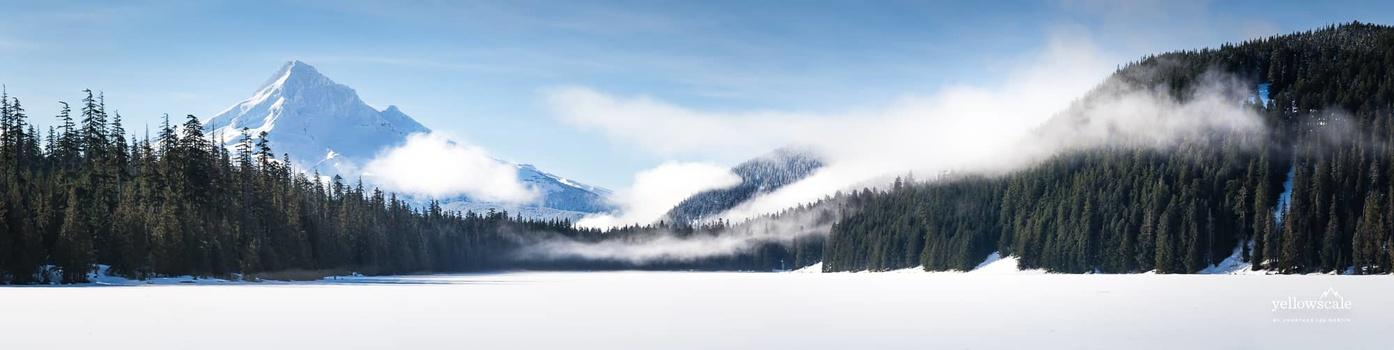 Mount Hood over Lost Lake in Oregon