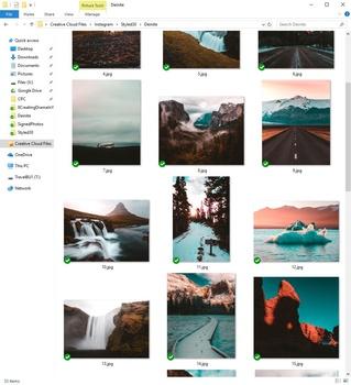 windows folder organizing photos for Instagram