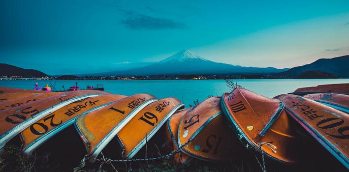 Mt.  Fuji, Lake Kawaguchi