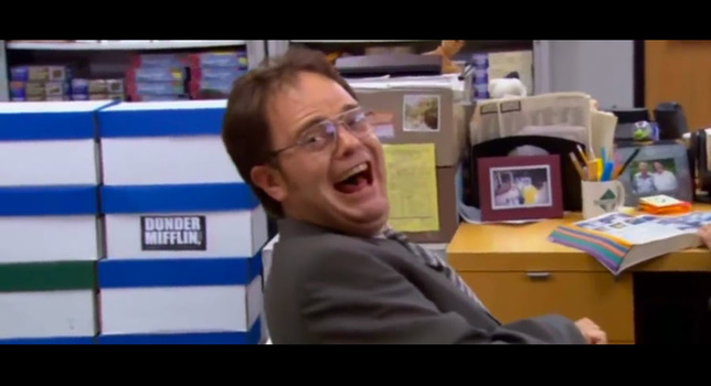 """A scene from """"The Office"""""""