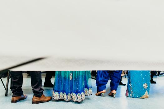 Muslim wedding guests