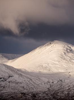 Glen Coe mountain and snow