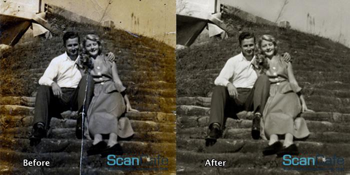 photo restoration, preserving memories