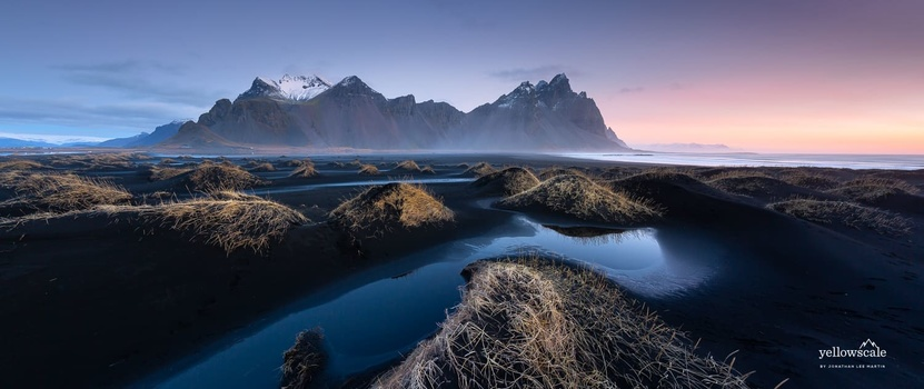 A stunning panoramic view of Vestrahorn that ended up being my only portfolio-quality image for the next week.