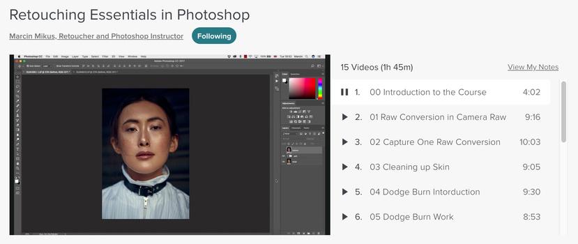 Marcus Mikus dodge and burn retouching with Skillshare learning platform