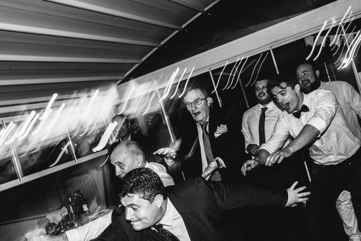Groom's party on a dancefloor