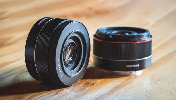 Samyang 24mm and 35mm f/2.8 lenses