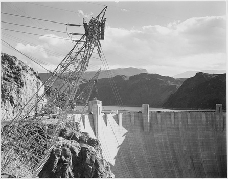 Ansel Adams photo overlooking the hoover dam